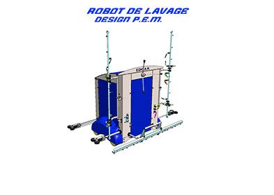 Robot de lavage conçu par le bureau d'étude PEM à Valence (Drôme)