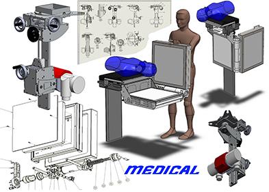 Equipement pour opération en stéréotaxie intégré et monté par PEM (Valence - Drôme)