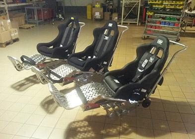 Série de chariots de type WHEEL intégrés et montés par PEM (Valence - Drôme)
